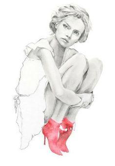 Fashion Illustration - delicate fashion drawing // Kelly Smith