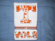 Univ of Tennessee Volunteers Hand Towel Kitchen, Bathroom, Bar, Grill, Grad Gift