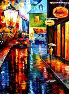 Traped Inside Blue Rain - Leonid Afremov