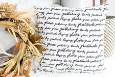 Thanksgiving Square Tablecloth for Square Tables Cotton, Off White Color, inch, Pack of No Fray Edges Floor Care, Thanksgiving Table, Cloth Napkins, Pillow Covers, Blessed, Thankful, Pillows, Quotes, Amazon