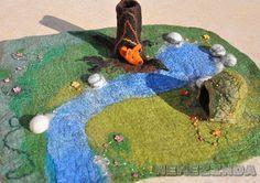 Waldorf Play Mat Large 3D Nature Season Table Playmat by Nemezinda
