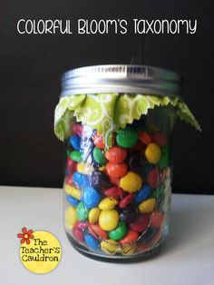 using M&Ms or Skittles to help make read alouds more fun using Bloom's Taxonomy higher level thinking