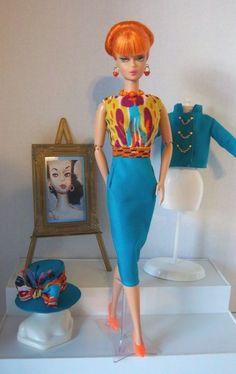 Vintage Barbie 1960's Style Silkstone Jacket Dress Hat Shoes Jewelry OOAK | eBay