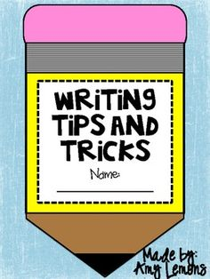 This craftivity booklet will be a great addition to your Writer's Worship lessons! As you are introducing Writer's Workshop, have your students co.I need lots of good writing activities~ Work On Writing, Writing Words, Writing Lessons, Writing Resources, Writing Activities, Writing Tips, Creative Writing, Kindergarten Writing, Teaching Writing