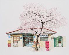 Me Kyeoung Lee dibujos tiendas corea del sur 6