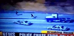 Gif // Someone had their coffee this morning. --- Super fast cop chasing down and tackling fleeing man Funny As Hell, Wtf Funny, Funny Cute, Hilarious, Gifs, Wtf Moments, Everything Funny, Can't Stop Laughing, I Laughed