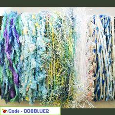 Textured Yarn Craft Pack - Seafoam Blues 02
