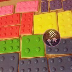 Lego tile cookies