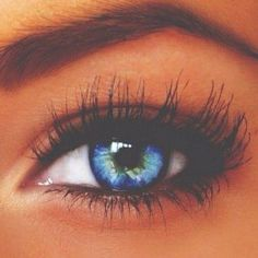 A picture of a beautifully colored eye