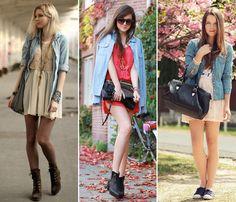 Além de lindas, as camisas jeans nunca saem de moda.