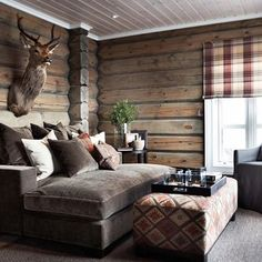 the Best of Ski Chalet Interiors & Design Cabin Homes, Log Homes, Lodge Style, Chalet Style, Cabin Interiors, Cabins And Cottages, Interior Exterior, Kitchen Interior, House Design