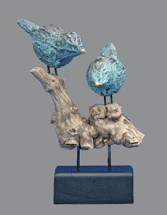 Galerie - Josefine-Art Ceramic Wall Art, Bird Sculpture, Contemporary Sculpture, Clay Animals, Museum Of Modern Art, Pet Birds, Garden Art, Glass Art, Bird Feeders