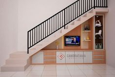 55 ideas for modern farm house staircase stairways Bungalow Haus Design, House Design, Interior Stairs, Home Interior Design, Stairway Storage, Backdrop Tv, Stairs In Kitchen, Living Room Tv Unit Designs, House Plans With Pictures