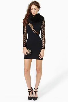Nasty Gal Invisible Lace Dress