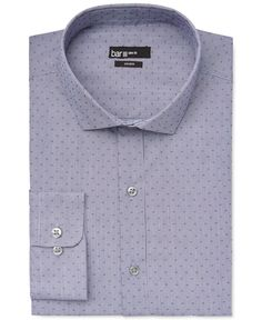 Bar Iii Slim-Fit Blue Dobby Solid Dress Shirt, Only at Macy's