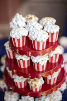 Popcorn Cupcakes?! So fun. These would be perfect for a movie night activity or party!