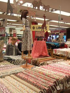 From Mablethorpe to Paris. Difficult to believe, I know, but all in the week of a Sewist's life. Above is a snap of the fabric shopping district in the Montmartre area of Paris. Fabric Shop, Cool Fabric, Paris Travel, France Travel, Paris Couture, Metro Paris, Paris Shopping, French Fabric, I Love Paris