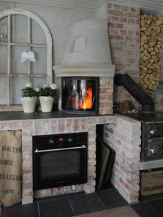 My kitchen. Stove Fireplace, Modern Rustic, Kitchen, House, Home Decor, Cooking, Homemade Home Decor, Stove, Home