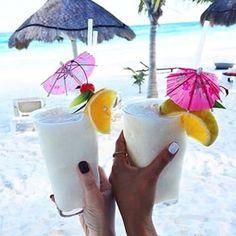 Vacation vibes #pinacoladas #vacation #yum