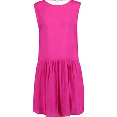 IRO Olivia pleated sateen dress (105 CAD) ❤ liked on Polyvore featuring  dresses,