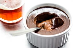 Deeply delicious, dark chocolate French custards that are easy to make at home.