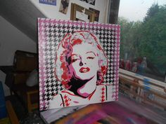 custom marilyn monroe painting in your by AbstractGraffitiShop, $300.00