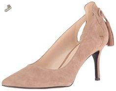 Nine West Women's Modesty Suede Dress Pump, Natural, 7.5 M US - Nine west pumps for women (*Amazon Partner-Link)