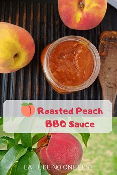 What is the Best Way to Slice a Peach? - Eat Like No One Else Barbecue Sauce Recipes, Grilling Recipes, Bbq Sauces, Peach Syrup, Grilling Sides, Meals In A Jar, Grilled Chicken Recipes, Food N, Canning Recipes