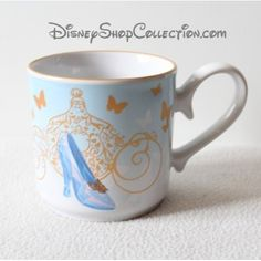 Mug Cendrillon DISNEY STORE Cinderella le film tasse pantoufle