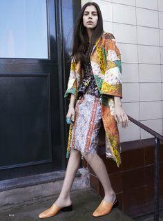 Amelia Roman by Liz Collins for Elle US April 2015- Prada