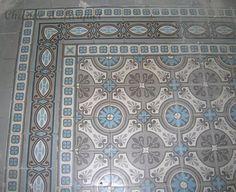 Antique floor pattern. Motieftegels www.floorz.nl