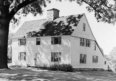 Comfort Starr House, Guilford,CT.,  c1645, oldest wooden saltbox residence in Connecticut (early photo)
