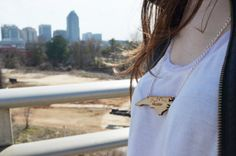 Raleigh Skyline Necklace by RaleighDesign on Etsy, $20.00