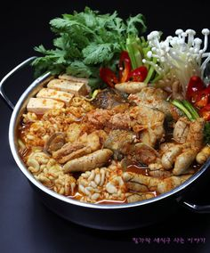 K Food, Korean Food, Kimchi, Kung Pao Chicken, Soups And Stews, Paella, Food And Drink, Meat, Baking