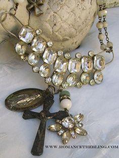 OOAK Vintage Rhinestone Soldered Assemblage  http://www.romancethebling.com