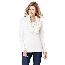 Jamie Gries Collection Holiday Cowl-Neck Sweater