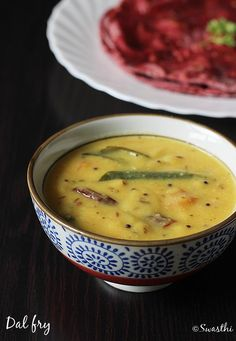 Moong dal recipe with step by step photos. Delicious, quick and healthy dal fry to go with rice, jeera rice or even with roti, plain paratha