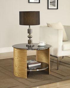 Jual Furnishings JF303 Round Lamp / Side Table - Oak