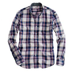 SLIM INDIAN COTTON SHIRT IN KENDRICK PLAID by J.Crew. $75