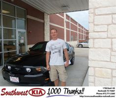 #HappyAnniversary to Brad Zemke on your 2011 #Ford #Mustang from Chase Cornwell at Southwest KIA Rockwall!