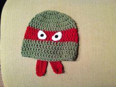 Teenage Mutant Ninja Turtle Crochet Hat by Designs by Treas on Etsy