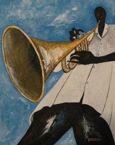 Jazz Art Trumpet Man Music Painting