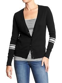 Women's Button-Front V-Neck Cardis. Old Navy $18