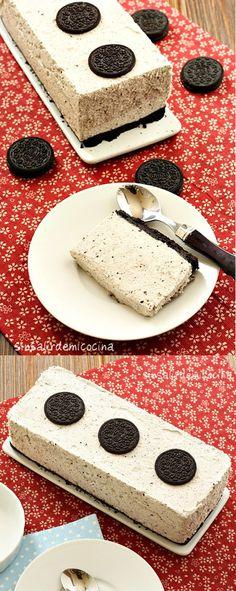 Tarta de queso con galletas Oreo / http://sinsalirdemicocina.blogspot.com.es/