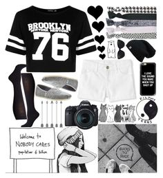 """Black and White :)"" by ciaran-colleen ❤ liked on Polyvore featuring Polar, Falke, TOMS, Popband, Hello Darling, Casetify, Eos, 3.1 Phillip Lim and Boohoo"