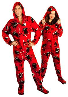 couples pajamas hooded ninja monkeys w drop seat matching couple pajamas matching