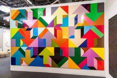 Tony Tasset Arrow Paintings Installation