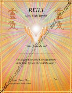Reiki kanji mind body connection pinterest reiki certificate template healing hands by reikicertificates on etsy https yadclub Image collections