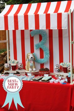 Best in Show Puppy Party, including puppy chow and bark, of course!