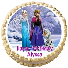 Frozen Anna Elsa Olaf Edible Frosting Cake Topper - 7.5 Round >>> Don't get left behind, see this great product : baking decorations